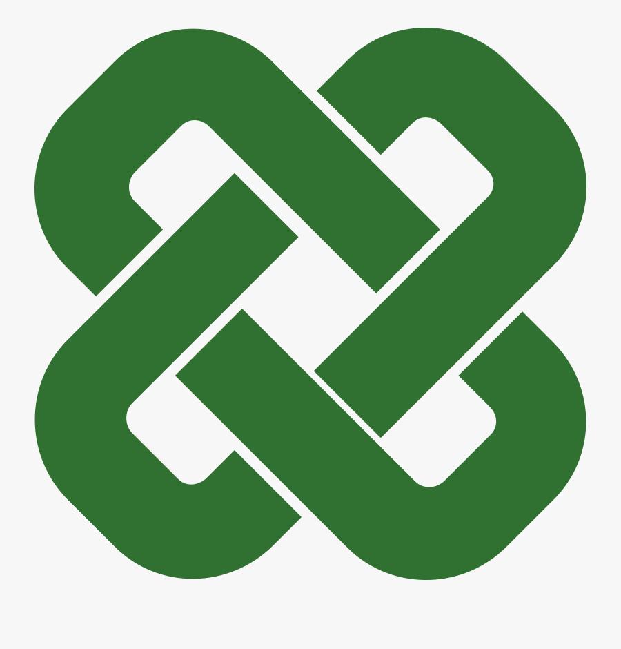Celtic Knot Square - Simple Square Celtic Knot, Transparent Clipart