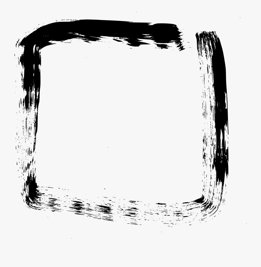 Brush Stroke Square Png, Transparent Clipart