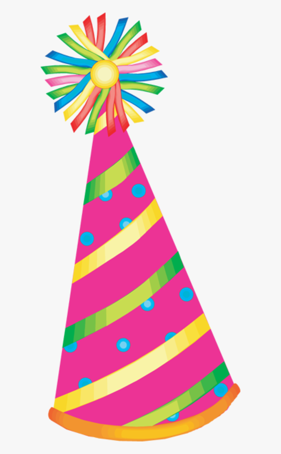 Party Hat Clipart - Transparent Background Birthday Hat Png, Transparent Clipart
