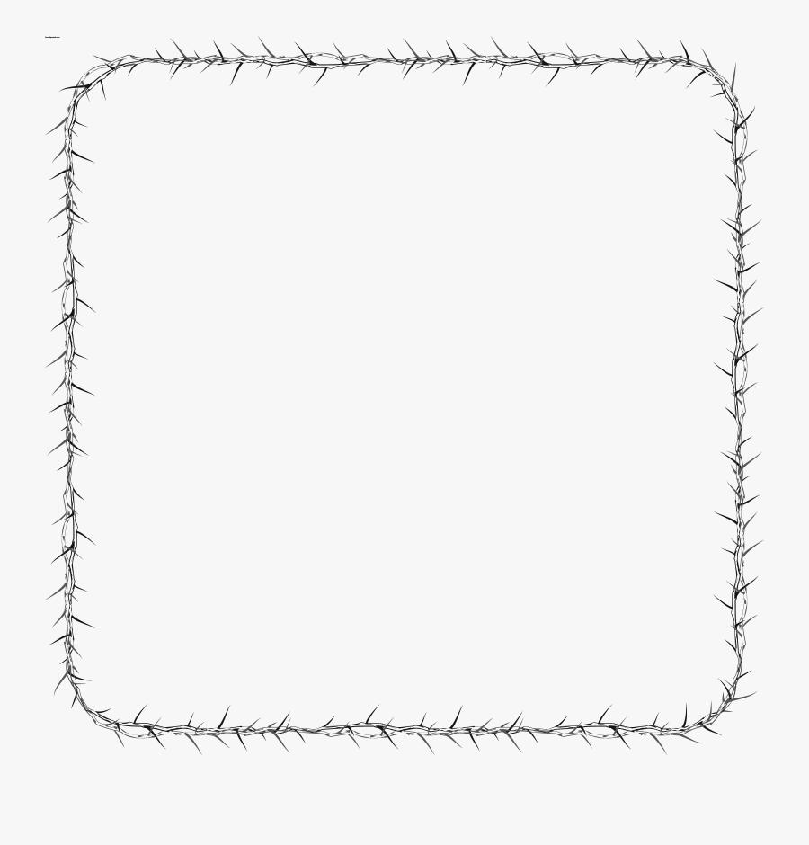 Graphic Black And White Squares Frame Design Everyday - Line Art, Transparent Clipart