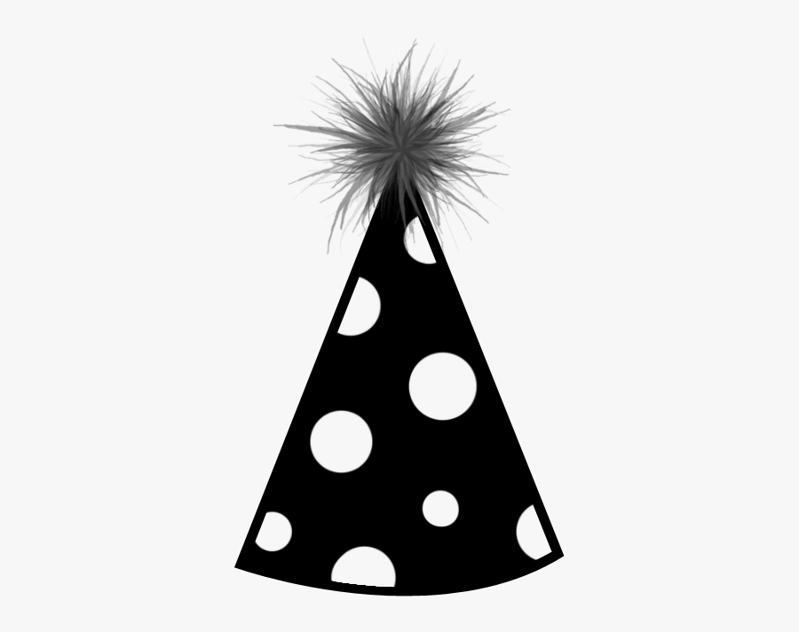 Party Hat Birthday Hat 9 Png - Birthday Hat Clipart Black And White, Transparent Clipart