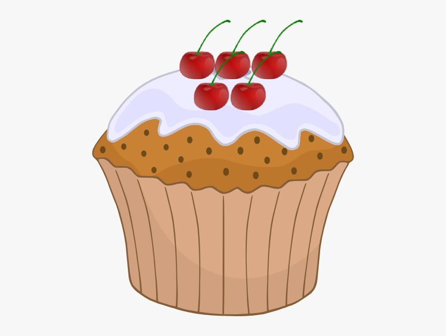 Transparent Cherry Clipart Png - Cupcake Clip Art, Transparent Clipart