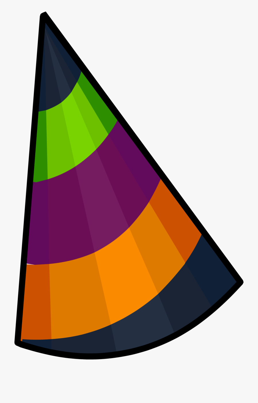Club Penguin Party Hat Clipart , Png Download - Club Penguin 6th Anniversary Hat, Transparent Clipart