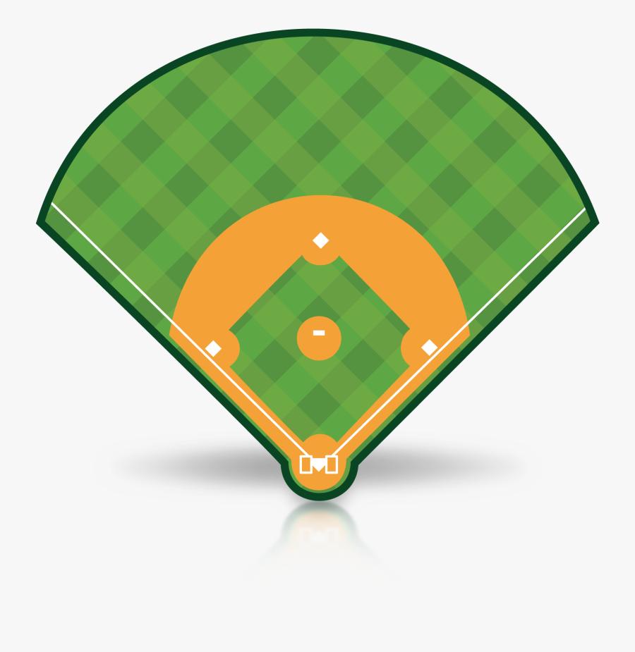 Animated Clipart Baseball Field - Transparent Clip Art Baseball Diamond, Transparent Clipart
