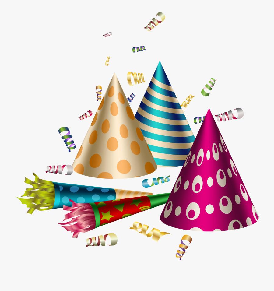 Confetti Clipart Party Hat - Party Clipart Transparent Background, Transparent Clipart