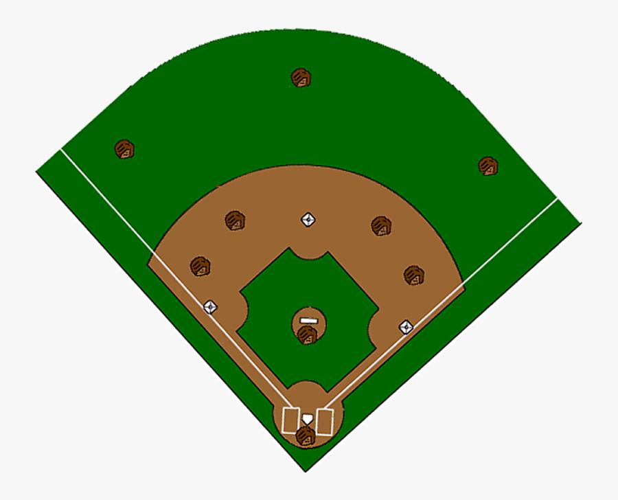 Softball Diamond Clipart - Clipart High Resolution Baseball Field, Transparent Clipart