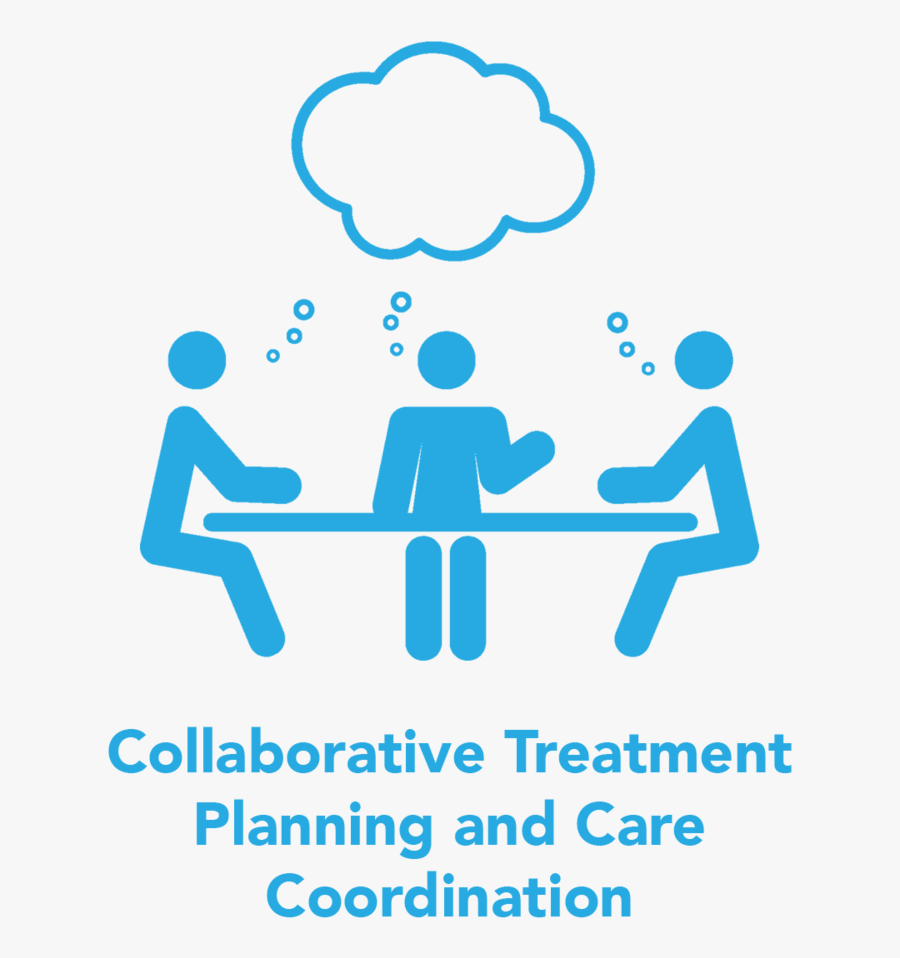 Collaborative Treatment Planning Care Coordination - Group Work Clipart Black And White, Transparent Clipart