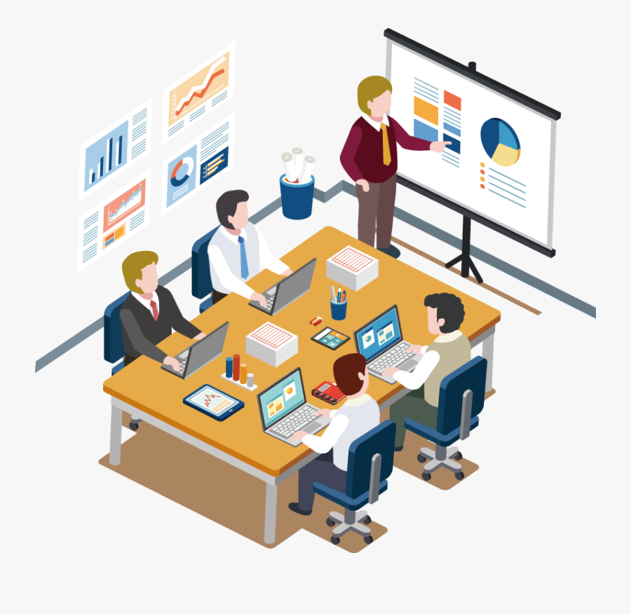 Information Graphic People Apartment Design Meeting - Meeting Flat, Transparent Clipart