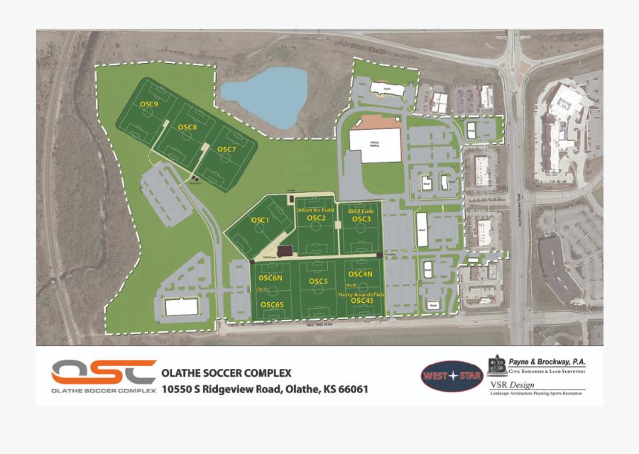 Olathe Soccer Complex Field Map, Transparent Clipart