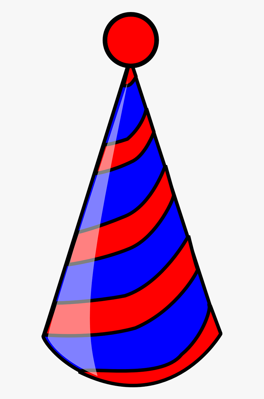 Hat Birthday Party Celebration Png Image - Red And Blue Party Hat Png, Transparent Clipart