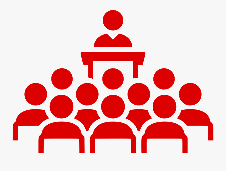 Meeting Icon Red, Transparent Clipart