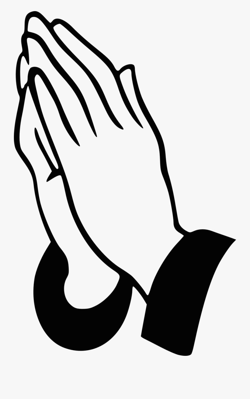 Clip Art Prayer Hand, Transparent Clipart