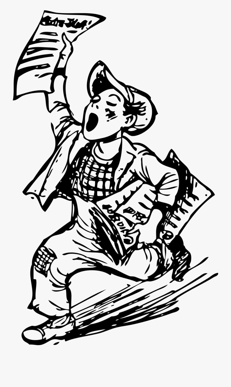 Newspaper Boy Clip Art, Transparent Clipart