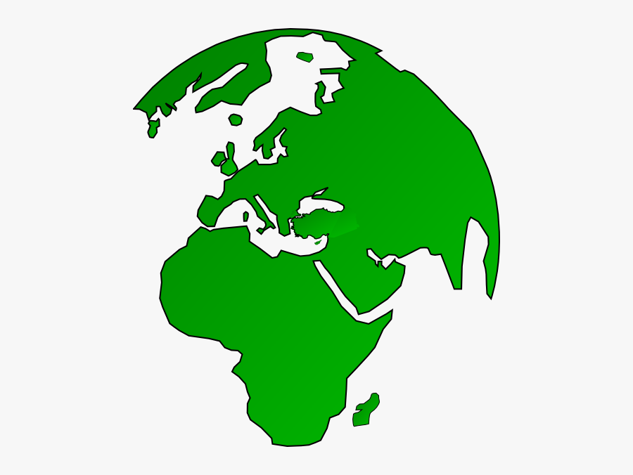 African Globe Map Green Clip Art At Clker - 3ds Region Lock Map, Transparent Clipart