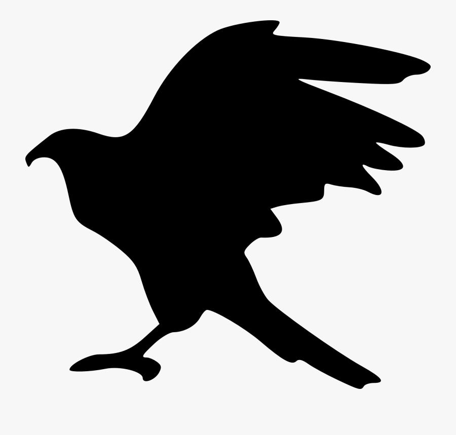 Bald Eagle Silhouette Clip Art - Hawk Silhouette Transparent Background, Transparent Clipart