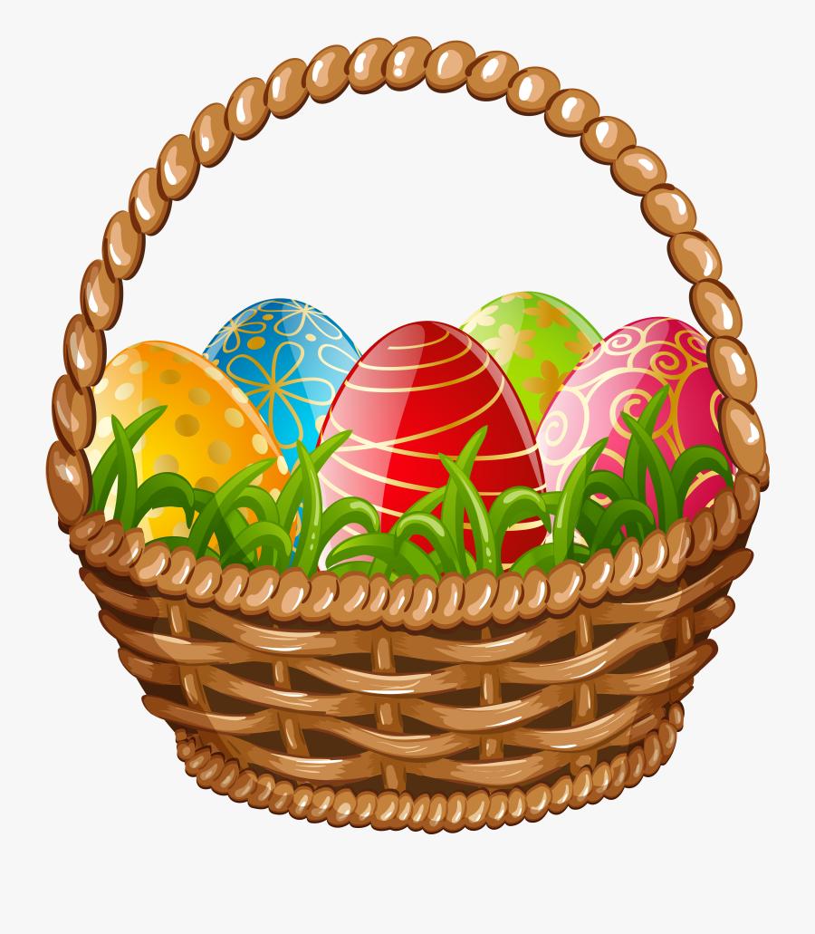 Easter Egg Basket Png Clip Art Image - Easter Egg Basket Clipart, Transparent Clipart