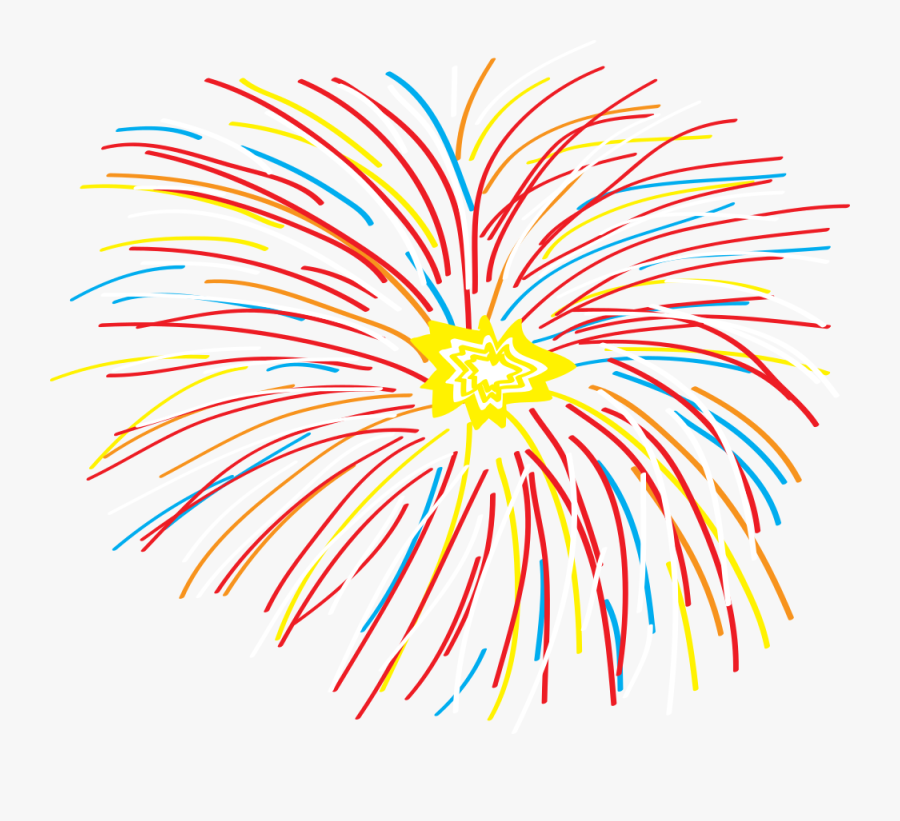 Abstract Fireworks Colorful Lineart - Abstract Clipart Fireworks Art, Transparent Clipart