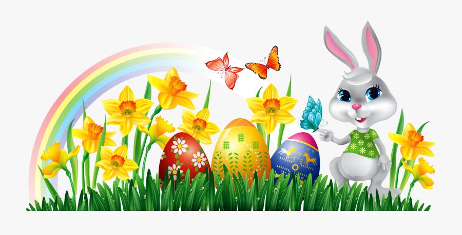 Happy Easter Clip Art - Easter Bunnies Clip Art, Transparent Clipart