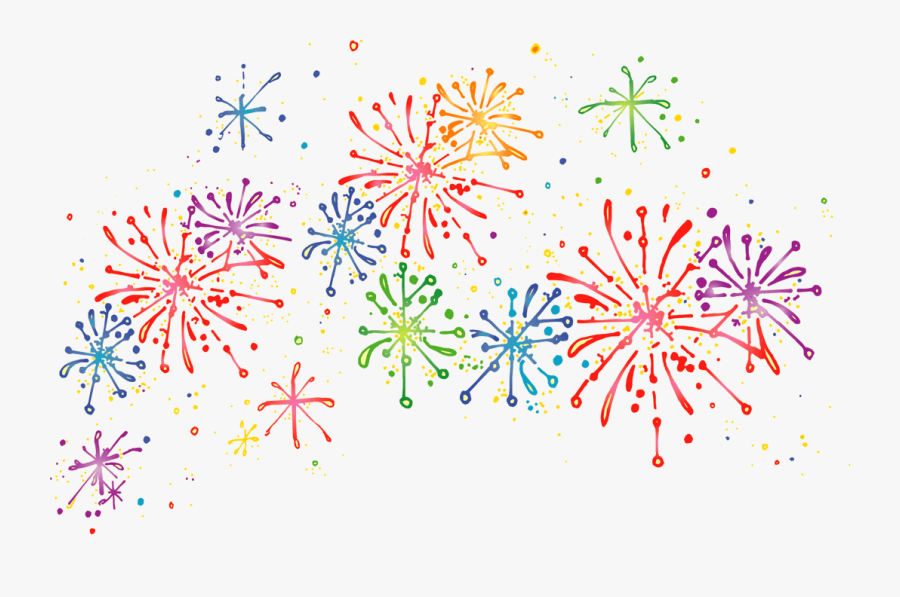 Colorful Firework Cliparts Free Download Clip Art - Clip Art Transparent Background Fireworks, Transparent Clipart