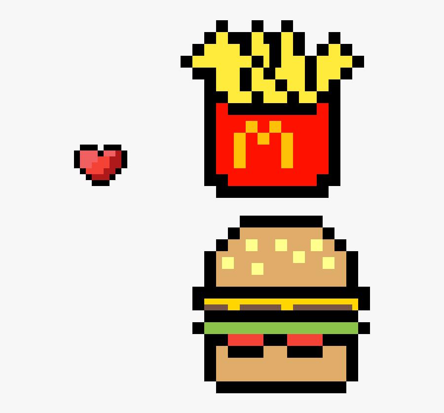 Mcdonalds Burger And Fries Clipart Transparent Png Kawaii