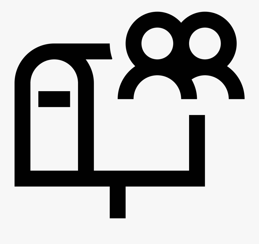 Mailbox Clipart Mail Truck - Shared Mailbox Icon Png, Transparent Clipart