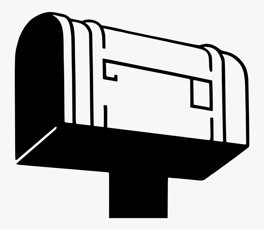 This Png File Is About Postbox , Mail , Post , Letter - Post Office Box Silhouette, Transparent Clipart