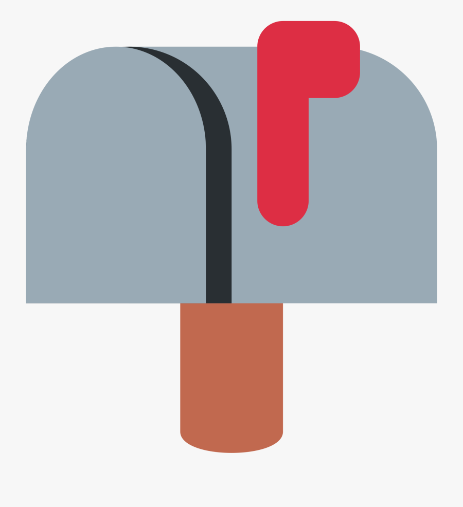 Closed Mailbox With Raised Flag Clipart , Png Download - Mailbox Emoji Transparent, Transparent Clipart