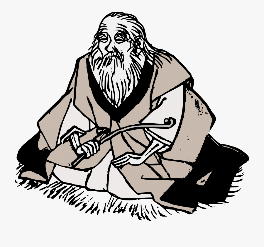 Wise Old Man With Beard Clipart - Wise Old Man Clipart, Transparent Clipart