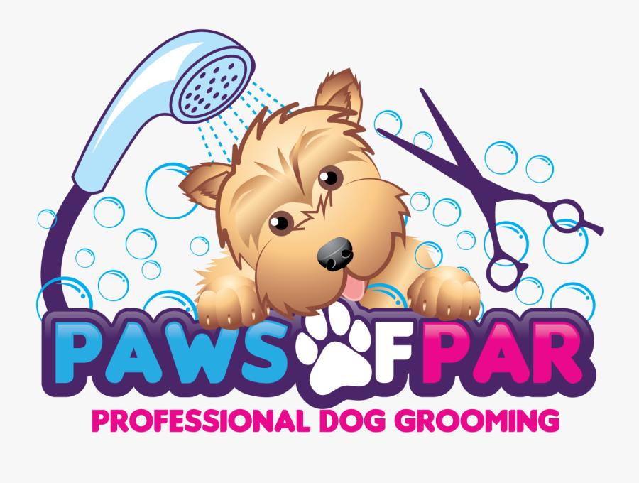 Clipart Dog Bath - Pet Grooming Logo Design, Transparent Clipart