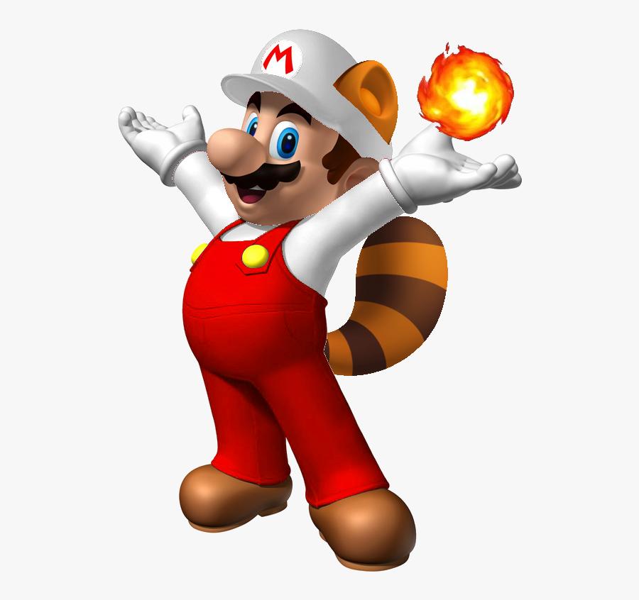 Fire Raccoon Mario - Mario Bros, Transparent Clipart