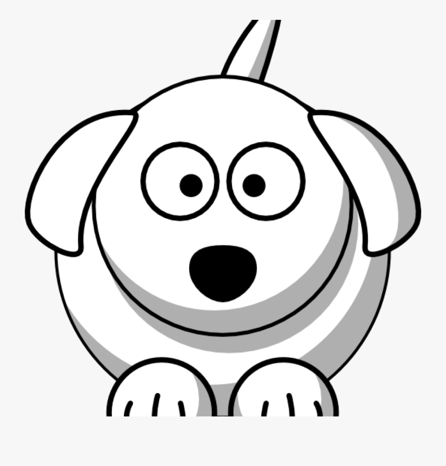 Dog Face Clipart Happy Birthday Clipart Hatenylo - Black And White Dog Drawing, Transparent Clipart