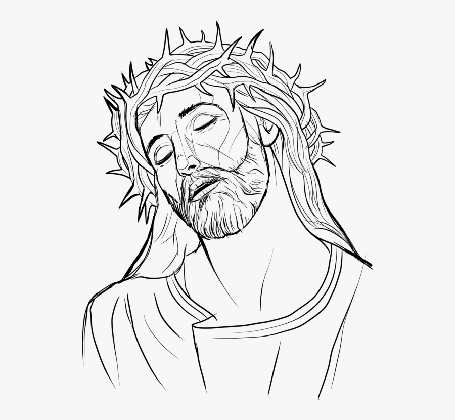 Crown Of Thorns Christian Cross Christianity Drawing - Crowning With Thorns Drawing, Transparent Clipart