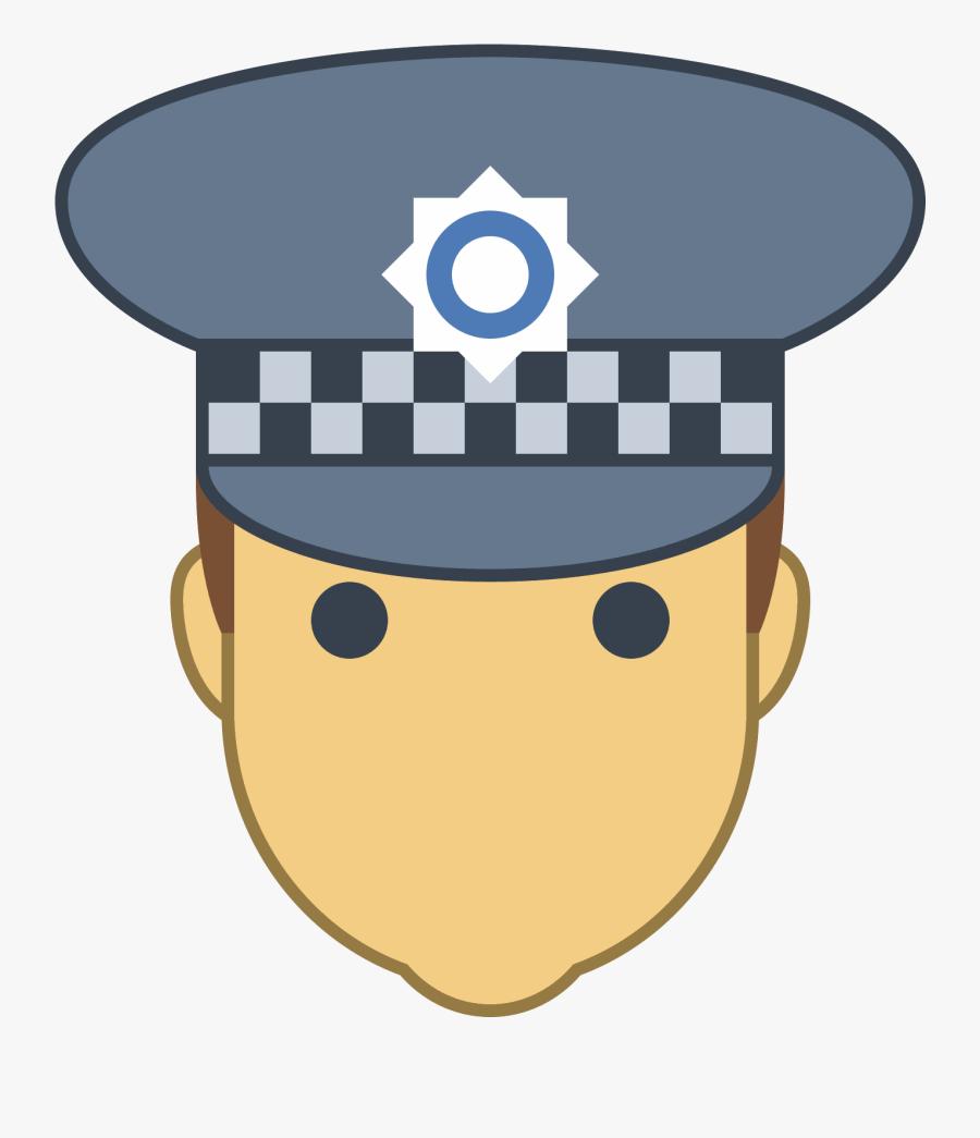 Uk Police Officer Icon - Police Officer Uk Clip Art, Transparent Clipart