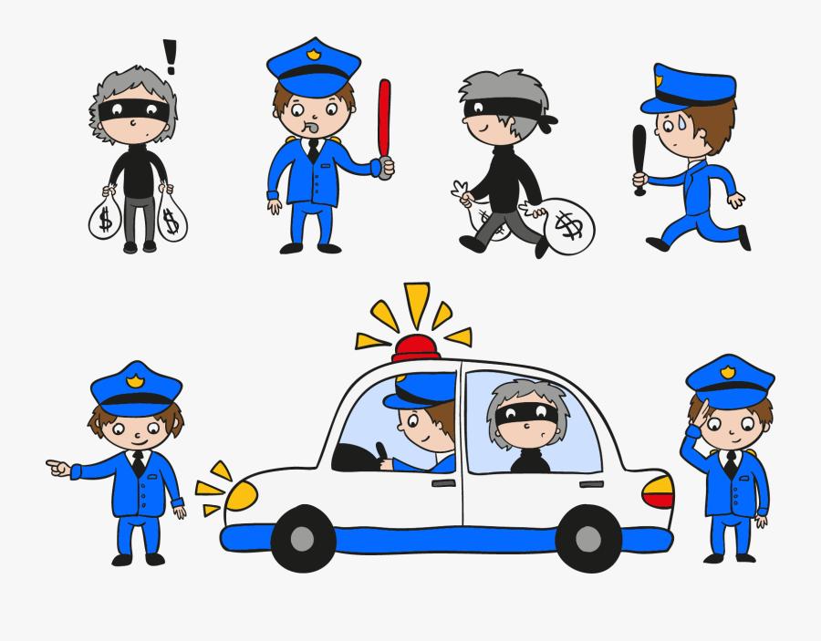 Transparent Police Uniform Clipart - Police Car Siren Cartoon, Transparent Clipart
