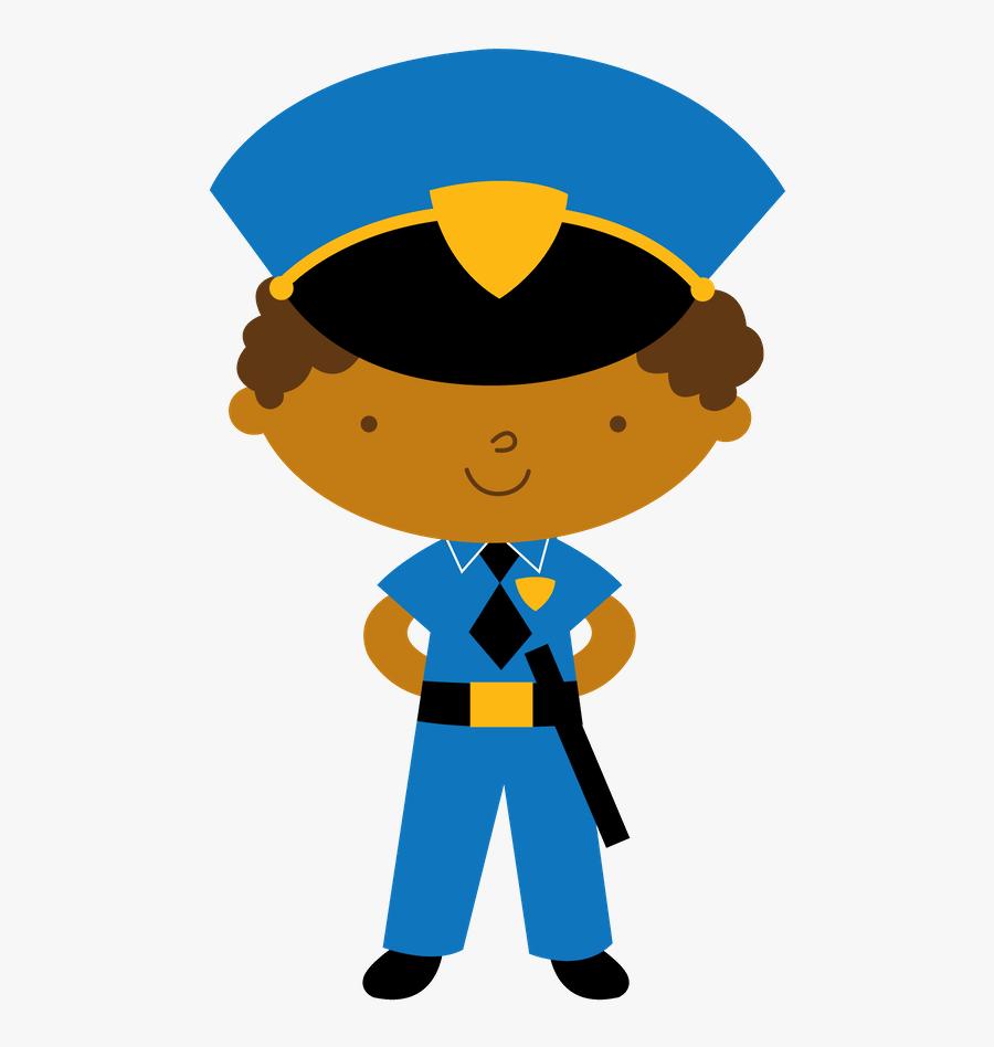 Girl Clipart Police - Desenho De Policial Militar, Transparent Clipart