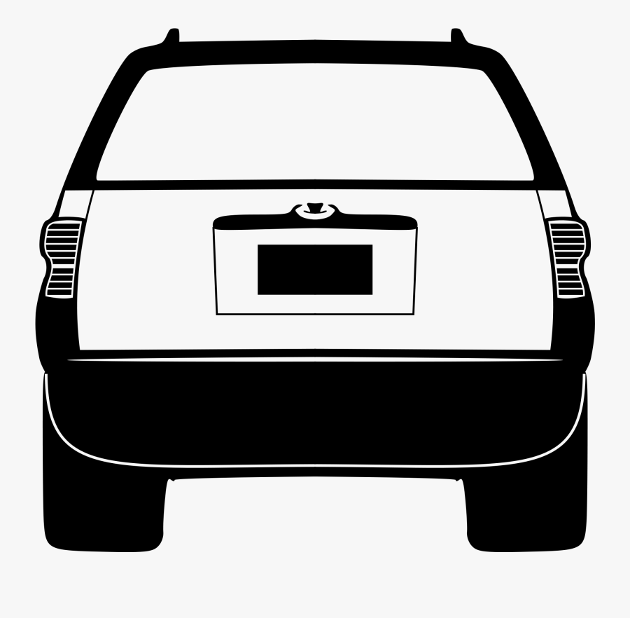 Back Of Cars Clipart Acura Car Clip Art At Clker Com - Car Back Silhouette Png, Transparent Clipart