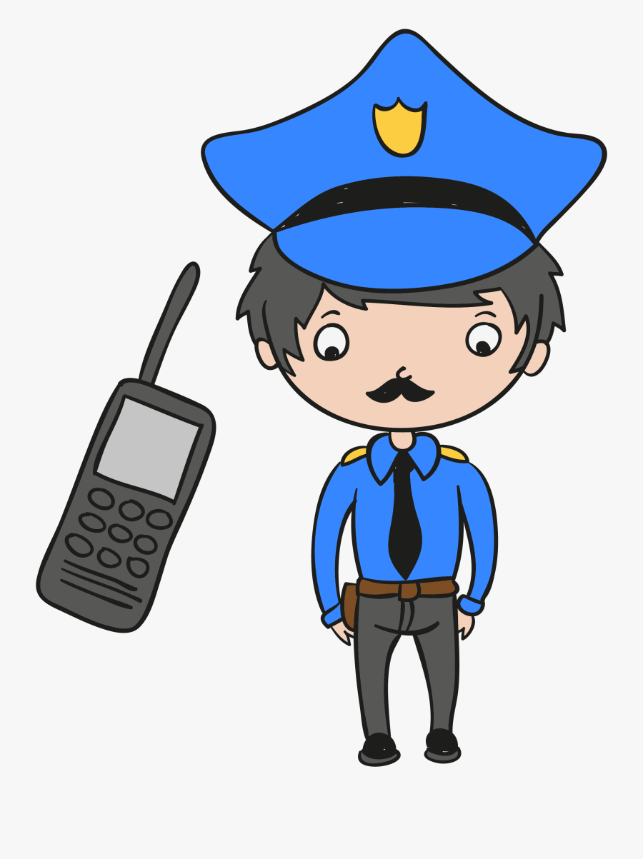 Officer Huge Freebie Download For Car - Clipart Device Police, Transparent Clipart