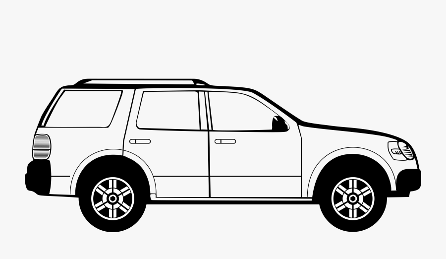 Car Black Car Clip Art Black And White Images Download - Mercedes Benz Glc Blueprints, Transparent Clipart