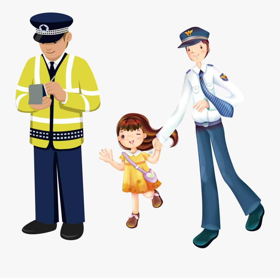 Transparent Police Woman Clipart - Traffic Police Man Png, Transparent Clipart