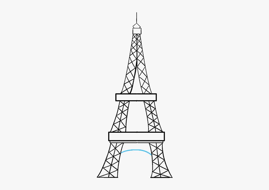 Clip Art Amazing Skill - Easy Eiffel Tower Sketch, Transparent Clipart