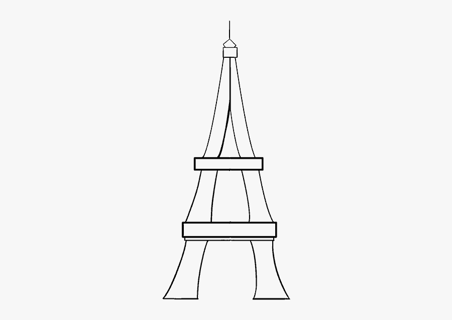 Clip Art Sketch Of Eiffel Tower - Drawing, Transparent Clipart