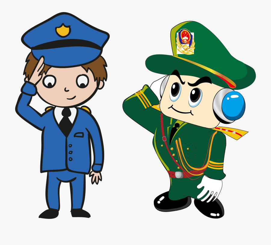 Police Officer Cartoon Peoples Police Of The Peoples - Dibujos Animados De Una Republica, Transparent Clipart