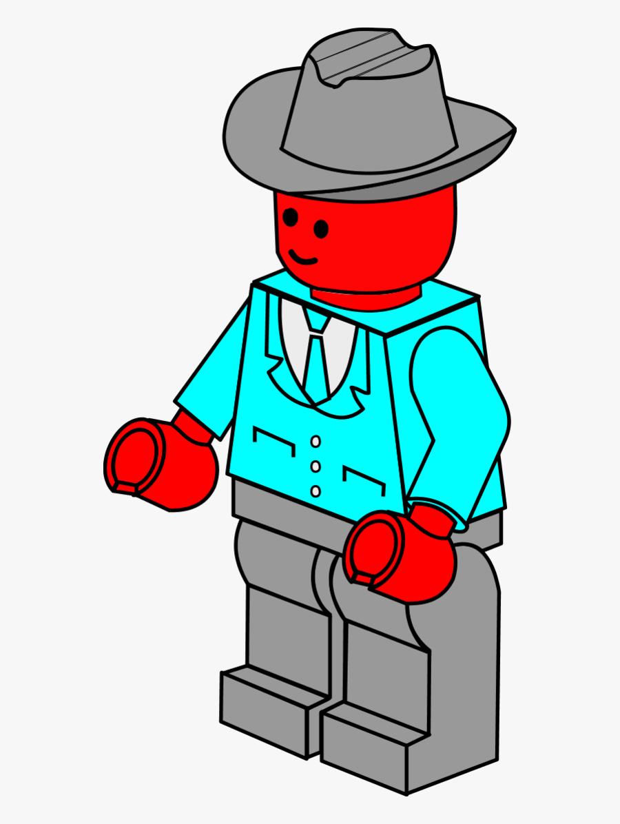 Business Man Lego Vector Clip Art - Lego Clipart, Transparent Clipart
