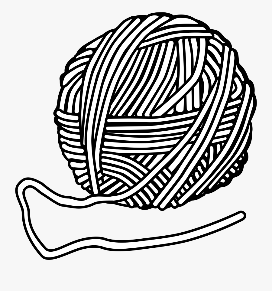 Yarn Clipart Black And White, Transparent Clipart