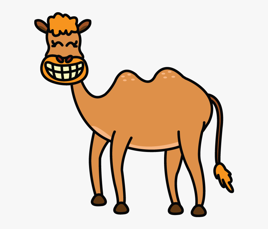 Picture Black And White Download Camels Drawing - Draw A Cartoon Camel, Transparent Clipart