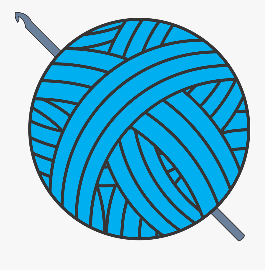 Leaf,symmetry,area - Yarn Ball With Crochet Hook, Transparent Clipart