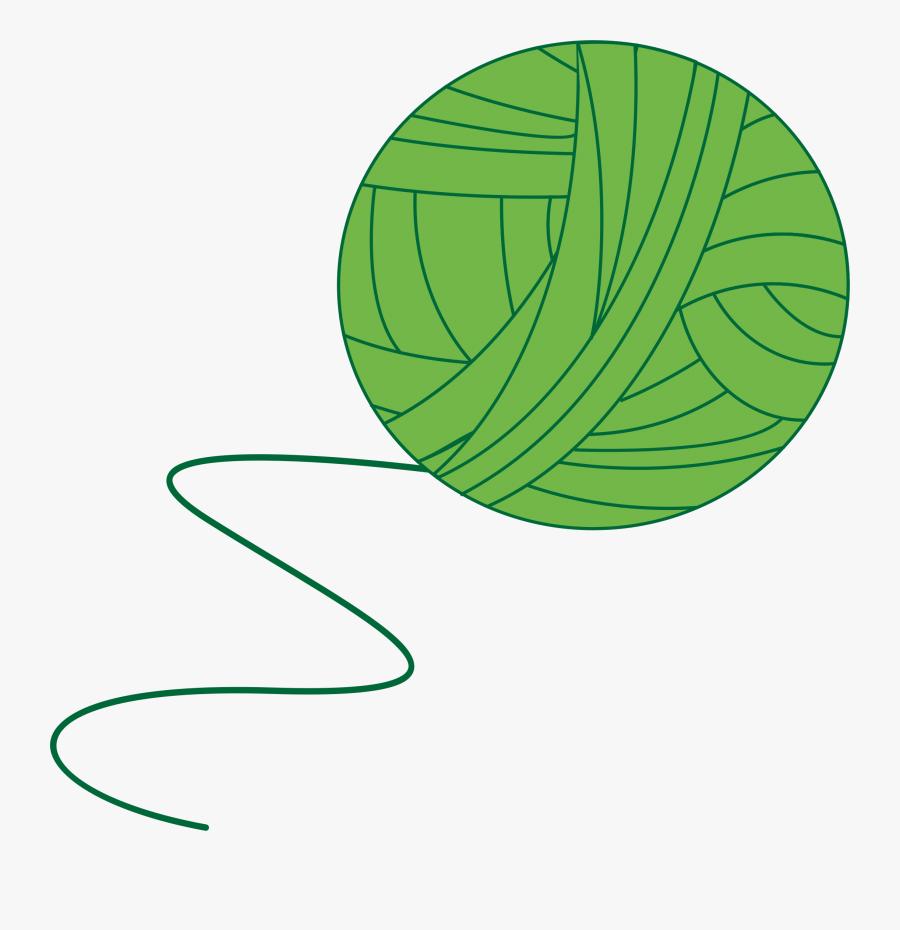 Green Ball Of Yarn - Yarn Ball Vector Png, Transparent Clipart