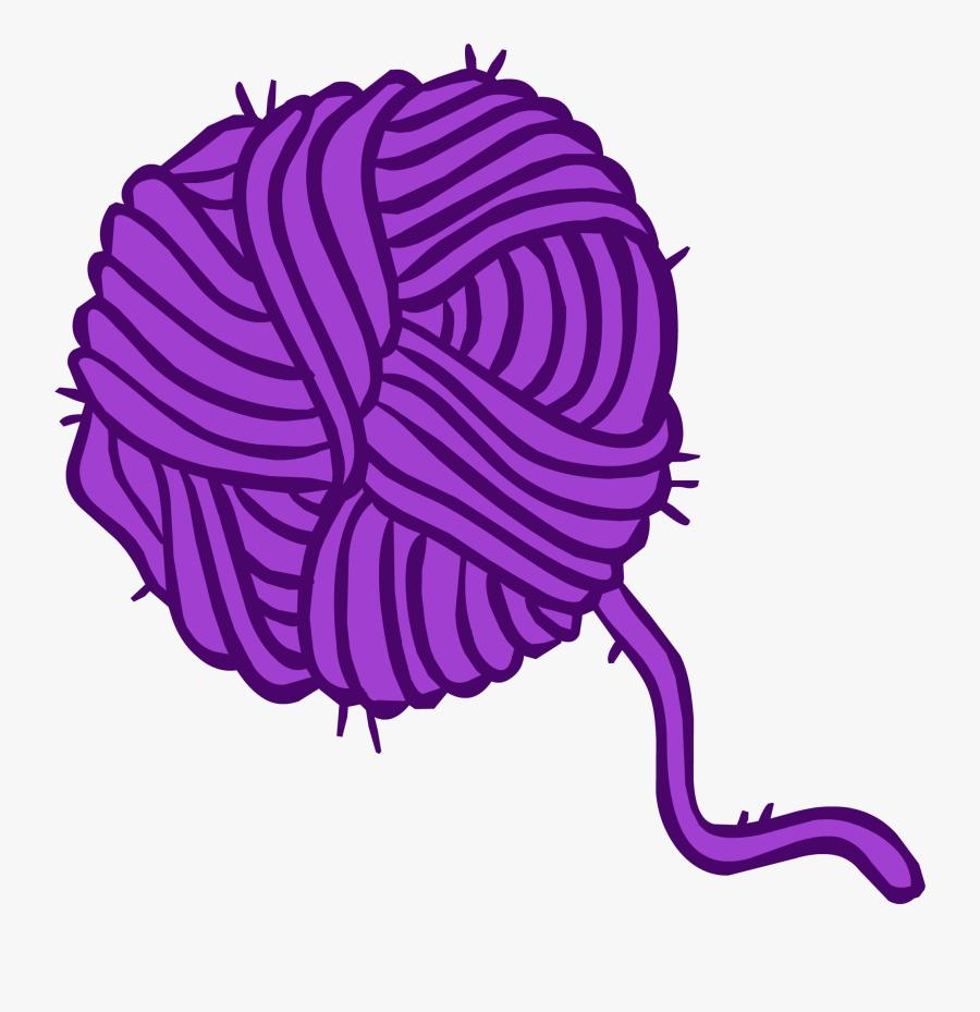 Transparent Yarn Ball Png - Ball Of Wool Cartoon, Transparent Clipart