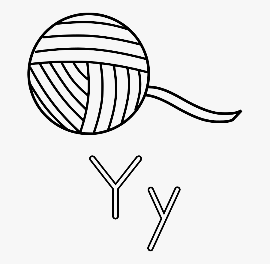 Y Is For Yarn - Ball Of Yarn Clipart, Transparent Clipart