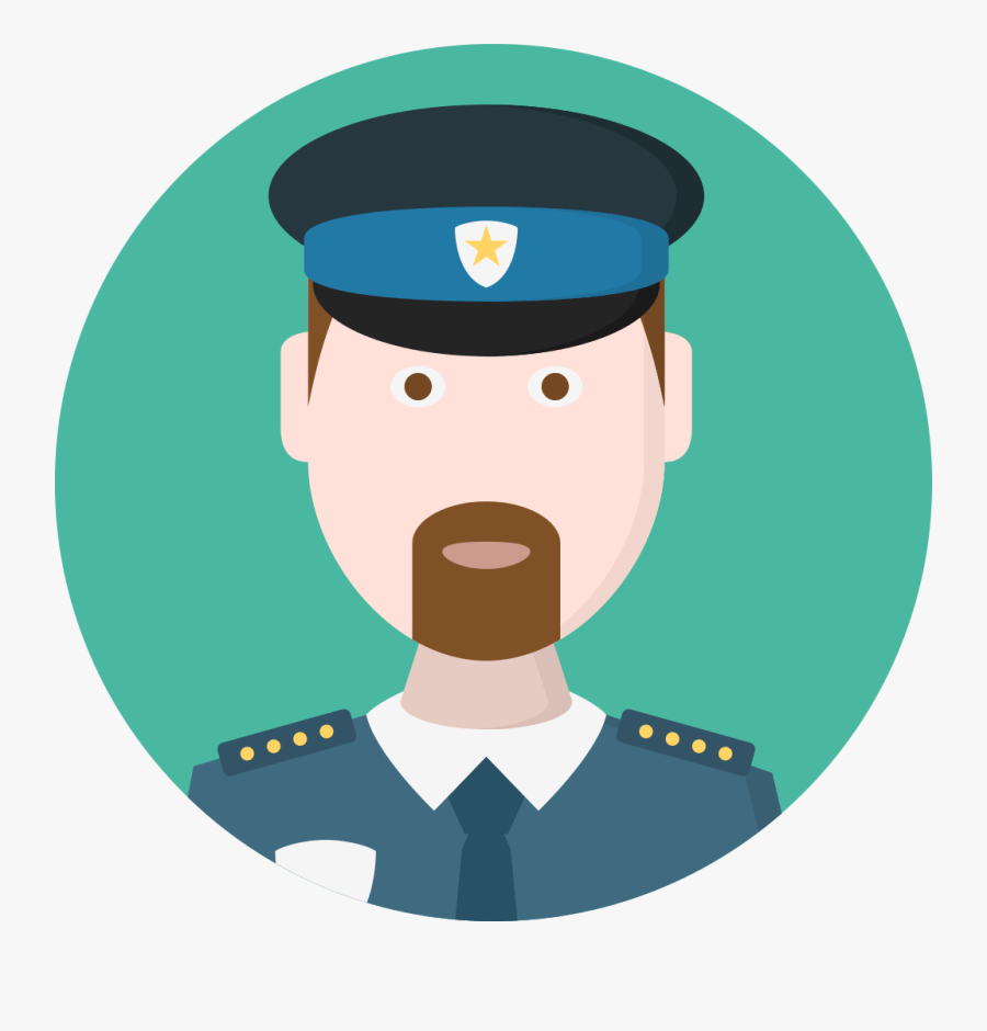 File Creative Tail People - Transparent Police Officer Icon, Transparent Clipart